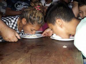 wedstrijd taart eten