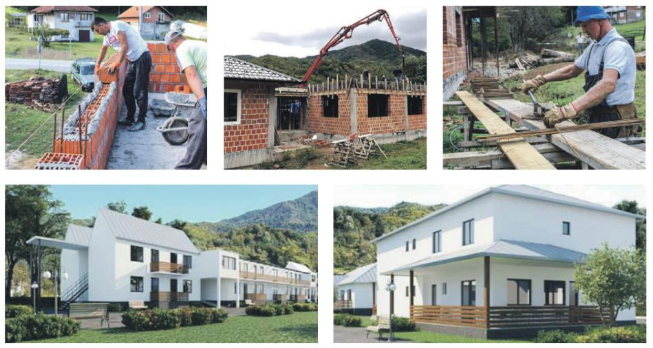 Zorgcentrum weduwen Srebrenica: de bouw vordert.